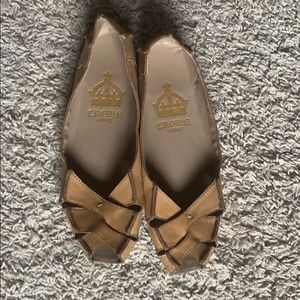 Crown Vintage Open-Toe Flats